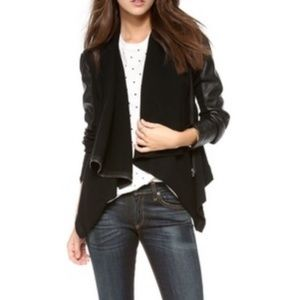 Blank NYC Faux Leather Drape Jacket XS